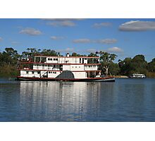 old paddlesteamer Photographic Print