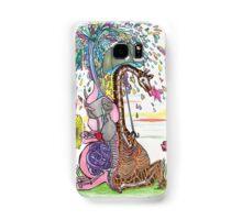 Giraffe and Elephant in the Rain Samsung Galaxy Case/Skin