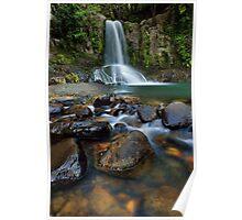Waiau Falls Rocks Poster
