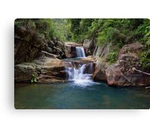 Black Hole Waterfall Canvas Print