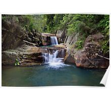 Black Hole Waterfall Poster