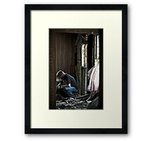 Thinking Of The Past Framed Print