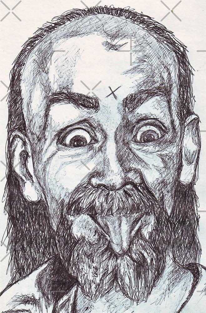 Charlie Manson Drawing by DreddArt