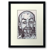 Charlie Manson Drawing Framed Print