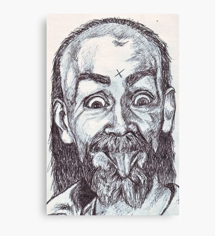 Charlie Manson Drawing Canvas Print