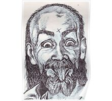 Charlie Manson Drawing Poster