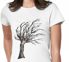 crucifixion in the tree Womens Fitted T-Shirt