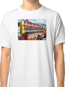 Long Ladder on Fire Truck  Classic T-Shirt