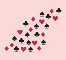 Poker heart spade diamond club Kids Tee