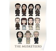 The Musketeers cast (print or card) Poster
