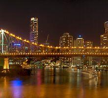 Brisbane - Storey Bridge at Night - HDR by fellPhotography.com .au