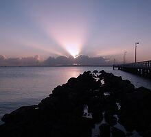 Spotlights at Wellington Point by mumacas