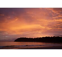 pink sunrise Photographic Print