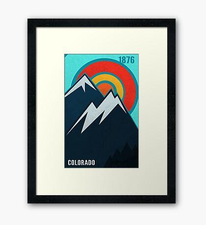 Colorado State Framed Print