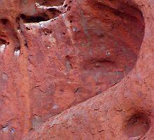 Cliff Face Heart on Uluru by Zaven Jordan