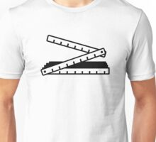 Folding rule yard stick Unisex T-Shirt
