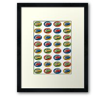 Peace Love and Kombis Framed Print