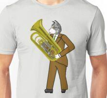 Male Cat playing Tuba Unisex T-Shirt