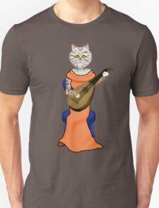 Cat playing Lute  T-Shirt