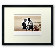 Turning on the Light Framed Print