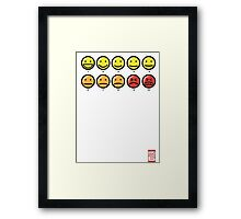 """On a scale of 1 to 10, how would you rate your pain?"" Framed Print"