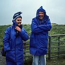 Bet and Jim at camping ground Bamburgh Northumberland England 198405270001m by Fred Mitchell