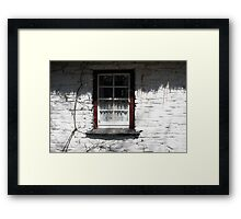 Bunratty cottage window Framed Print