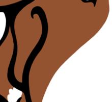 Soppy Bull Terrier Brown and White Coat Sticker