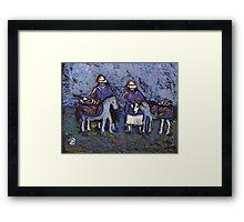 Fisherfolk with donkeys Framed Print