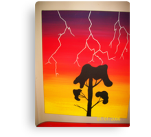 Lighting Bolt Canvas Print