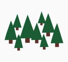 Forest fir trees Kids Tee
