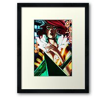 Red - Transistor Framed Print