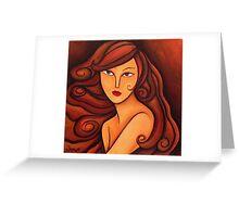 Brunette Greeting Card
