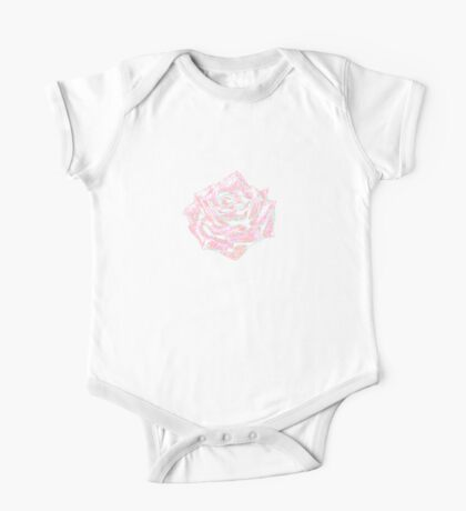 Pink Rose One Piece - Short Sleeve