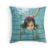 Look – I can swim! Throw Pillow