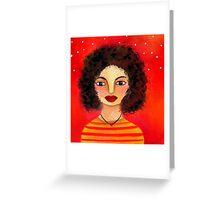 Dana's Frizzy Hair Greeting Card