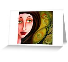 Whispers in Her Eyes Greeting Card