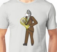 Male Cat playing French Horn Unisex T-Shirt