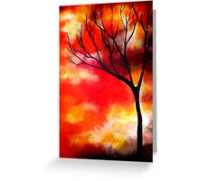 Mist in a Sunset Greeting Card