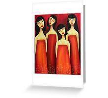 Sarong Party Girls Greeting Card