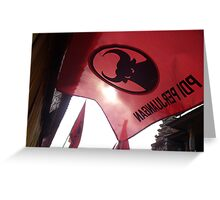 raise the red flag Greeting Card