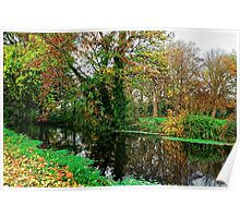 River Wandle in Autumn, Morden, England Poster