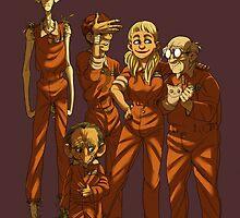 Arkham Nerd Squad by groovy-bastard