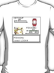 Pikachu wearing down ketchup T-Shirt