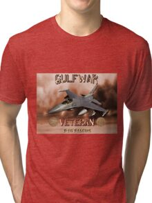 F-16 Falcon Gulf War Veteran Tri-blend T-Shirt