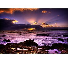 Blowhole Sunset Photographic Print