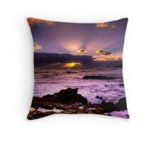 Blowhole Sunset Throw Pillow