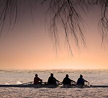 Morning Rowers. by DaveBassett
