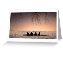 Morning Rowers. Greeting Card
