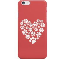 Dog Paw Prints Heart iPhone Case/Skin